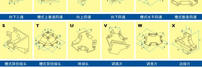 电缆桥架配件示意图